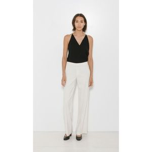 VINCE Ivory Wide Leg Trousers Off White Pants